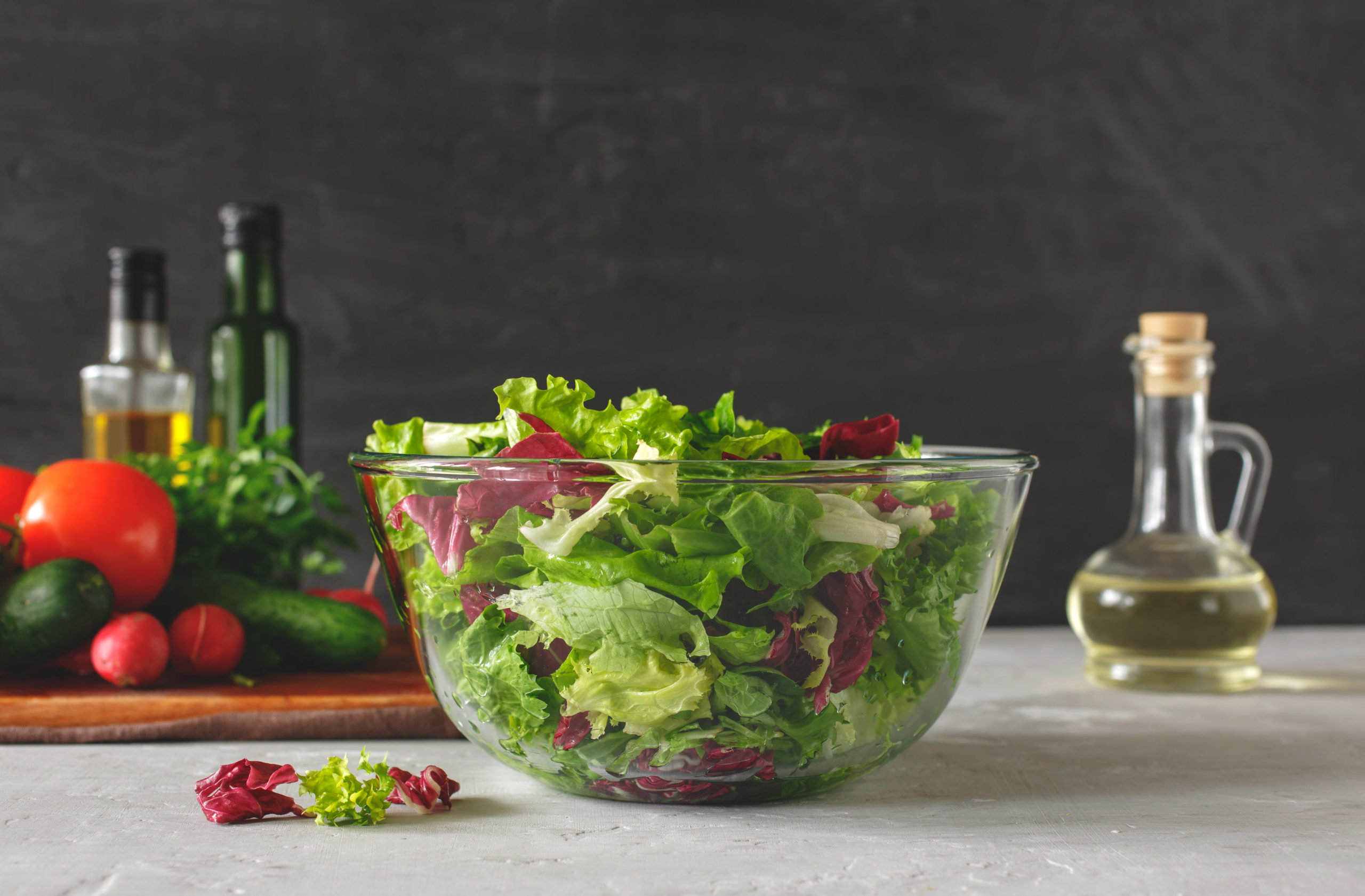 キレイなサラダの画像です