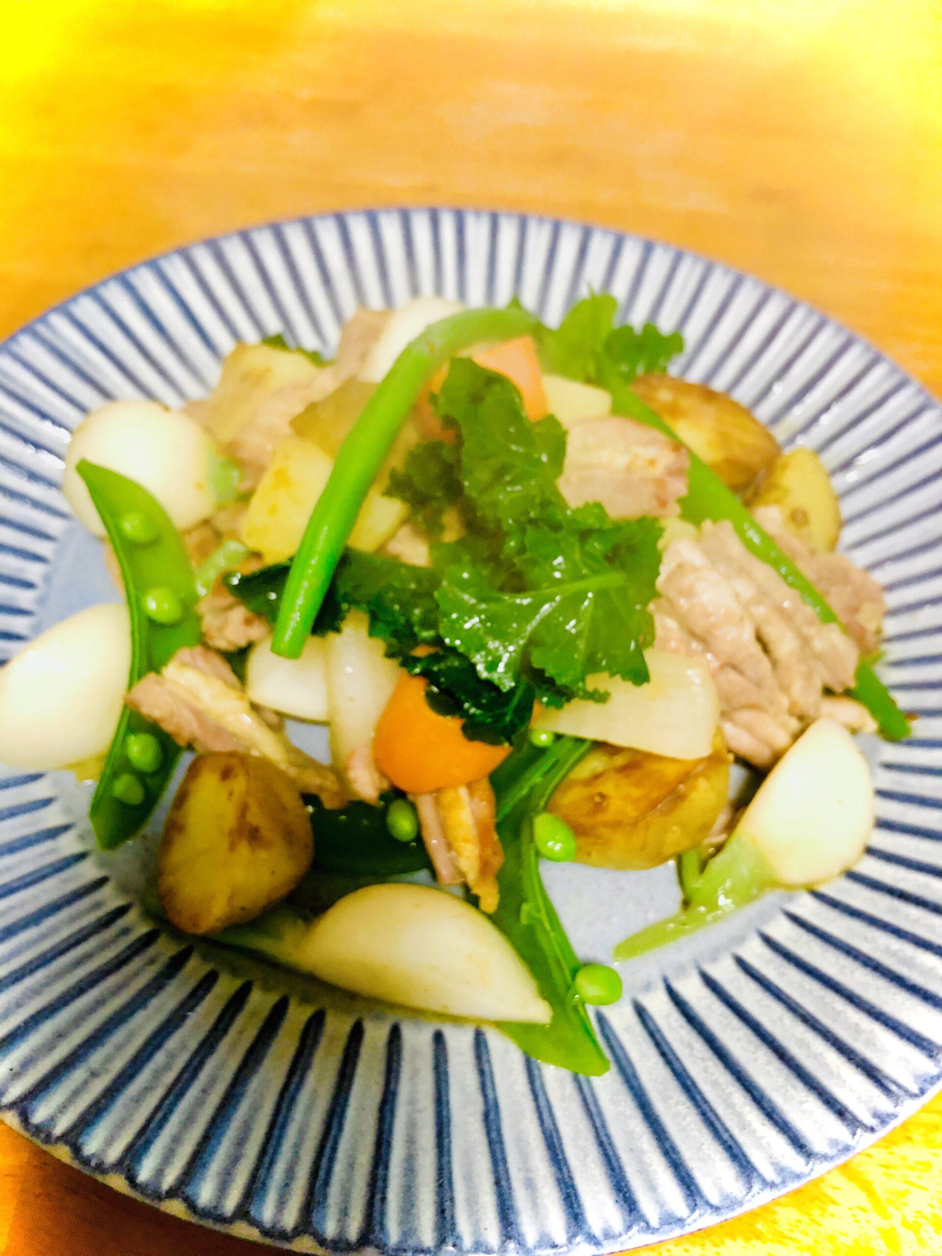 塩ゆで野菜で作った温野菜