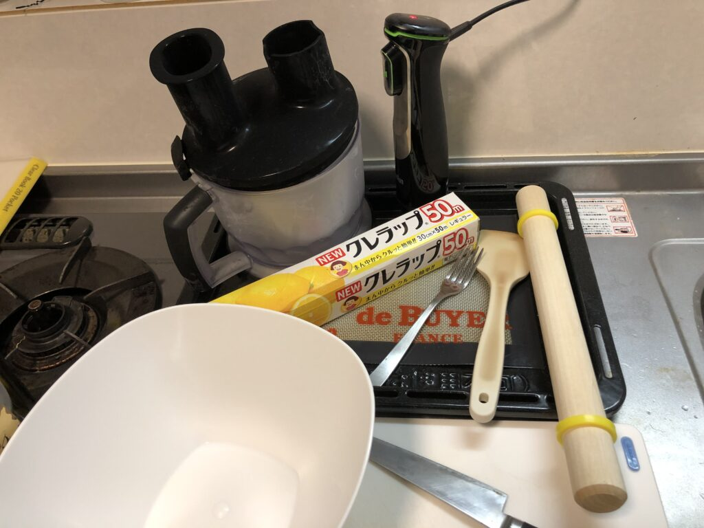 タルトタタンの使用器具画像です