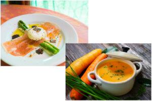 オードブルとスープの画像です