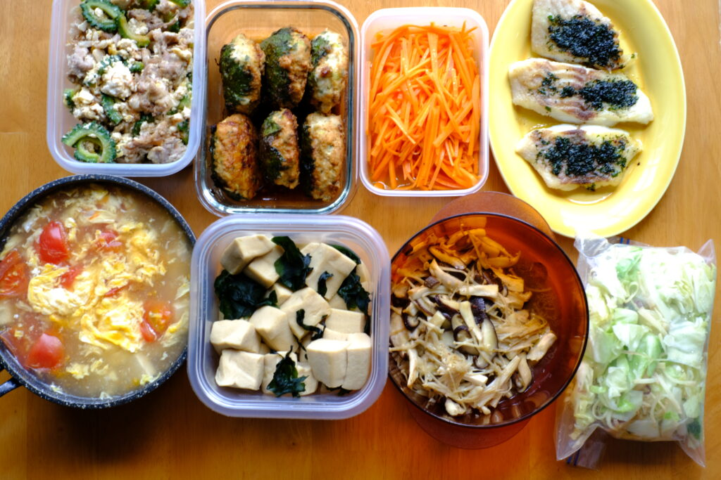 私が実際レッスンに参加して作った料理8品濃画像です
