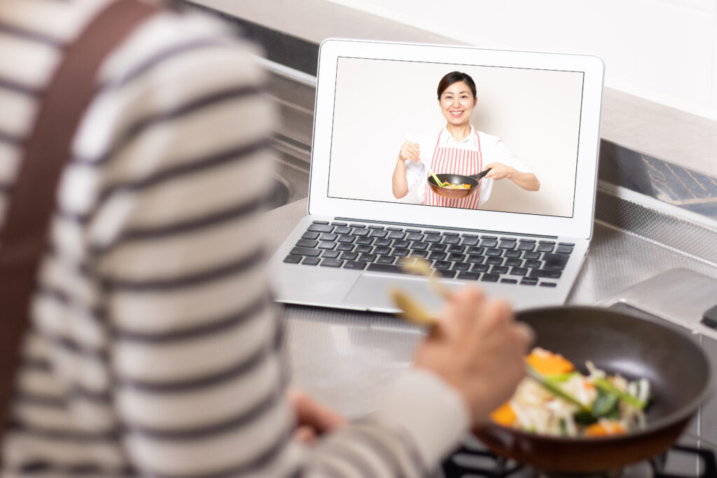 オンライン料理教室のイメージ画像です。