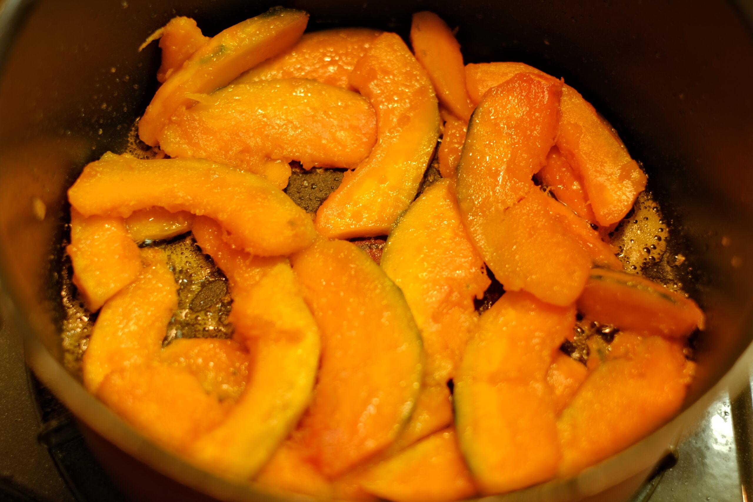 じっくりと炒めたかぼちゃの画像です。